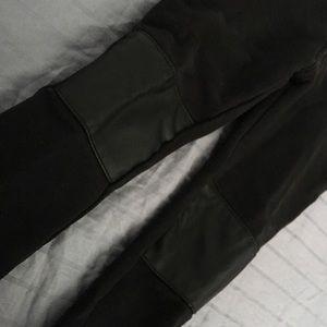 GIRLS H&M Leather detail LEGGING